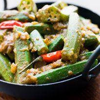 Crispy Andhra #Bhindi: Deep fried bhindi sprinkled with roasted masala and seasoning.