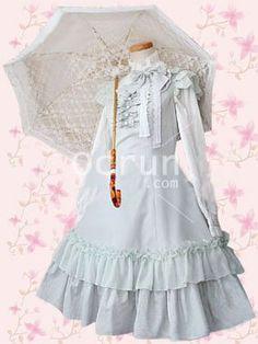 Light Blau Bow Rüschen Sweet Lolita Shirtkleid