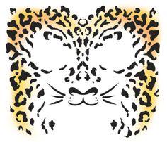 Cheetah Facial Tattoo Kit #temporary #tattoo #sexy #cheetah #facetattoo #tinsleytransfers #t4aw #tattoos