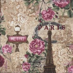 Paris Roses Quilting Fabric