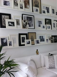 neutral gallery wall, photographs