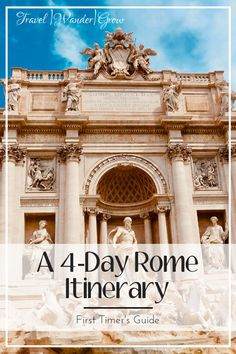 I love Rome! It's one of my favorite cities of all time. This post will cover all you should do in this enchaning city in a 4 day Rome Itinerary. Italy Travel Tips, Europe Travel Guide, Rome Travel, Travel Guides, Travel Destinations, Backpacking Europe, Bratislava, Budapest, Voyage Rome