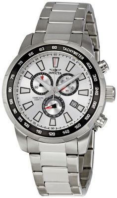 Invicta Men's 1554 Specialty Chronograph Silver-Tone Dial Stainless Steel Watch Invicta. $84.95. Save 89% Off!