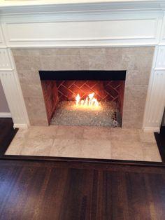 Crushed Glass Gas Fireplace