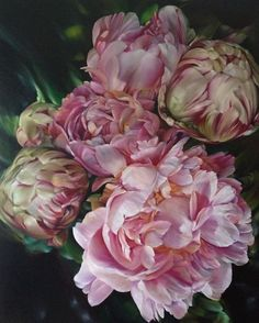 >sigh< Peonies are my absolute favorite flower <3 Saatchi Online Artist: Marcella Kaspar; Oil 2013