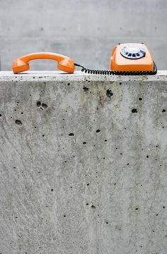 orange telephone