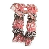 Light Pink and Grey Chevron Leg Warmers