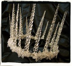 The Frost King White Witch Full Crown by RecycledRockstah on Etsy