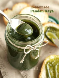 pandan kaya, coconut egg screw pine jam, homemade jam, Hainan kaya, Nonya kaya, kaya toast, breakfast, screw pine, jam spread, toddler, food 4 tots