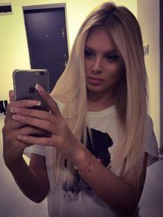 blonde nice style face