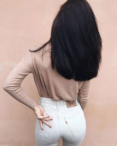 How To Get Thicker Hair Naturally At Home : 3 Simple Tips Medium Hair Styles, Curly Hair Styles, Natural Hair Styles, Haircuts Straight Hair, Long Hair Styles Straight, Keratin Hair, Hair Straightening, Black Women Hairstyles, Hairstyles 2016