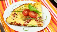 Parmesan Sun-Dried Tomato Frittata for Two ~ A cheesy frittata made with simple ingredients and a burst of tomato flavor makes this egg dish perfect for breakfast, brunch or dinner.