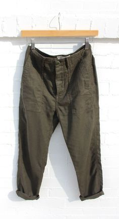 Slouchy Armies Pant - Army / 27