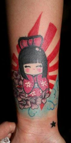 my cover-up tattoo kokeshi!