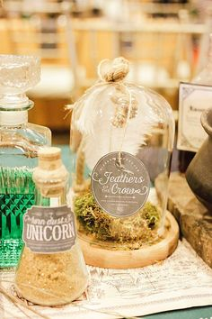 Centerpieces + Decor from a Harry Potter Birthday Party via Kara's Party Ideas | KarasPartyIdeas.com | The Place for All Things Party! (4)