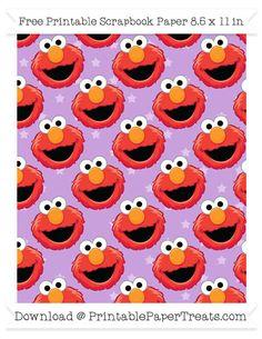 Free Wisteria Star Large Elmo Head Pattern Paper - Sesame Street