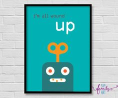 Shop for poster on Etsy, the place to express your creativity through the buying and selling of handmade and vintage goods. Poster Boys, Poster Poster, Poster Wall, Plum Art, Robots For Kids, Kids Decor, Playroom, Wall Art, Creative