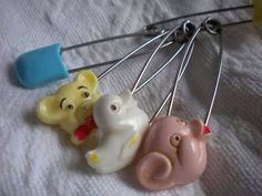 Diaper pins from days gone by.