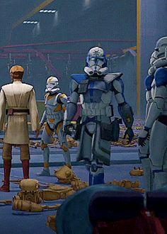 Star Wars Cartoon, Star Wars Jokes, Guerra Dos Clones, 501st Legion, War Comics, Star Wars Fan Art, Star War 3, Star Wars Poster, Clone Trooper