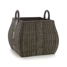 "Auburn Square Basket  | Crate and Barrel 20.5""Wx20.5""Dx20.25""H"