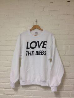LOVE The Biebs Sweatshirt - Justin Bieber Fans Belieb Believe 009. $23.00, via Etsy.