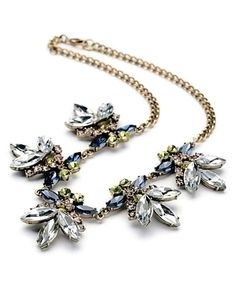 Look at this Crystal & Goldtone Midnight Statement Necklace on #zulily today!