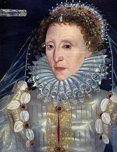 Queen Elizabeth I (1533 - 1558 - 1603 (70)) the last monarch of the Tudor Dynasty - contemporary portrait now in Westminster School which is located in the abbey close.