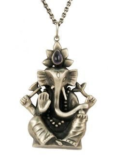Ganesha Pendant. He will come to your aid and the purchase helps rebuild houses in Nepal. By Natasha Wozniak.