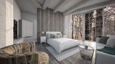 Roomstyler.com - grey wood floor bedroom