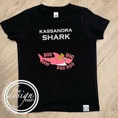 Do your kids love baby shark? Grab them a custom tee with their name on #babyshark #customtee