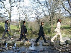 The Beatles, Abbey Road: Stepping Stones Abbey Road, Beatles Funny, Beatles Art, Beatles Photos, Pop Rock, Rock And Roll, John Lennon 1969, Liverpool, London Attractions