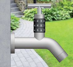 Locko Outdoor Faucet #Lock #Faucet #Outdoor http://www.trendhunter.com/