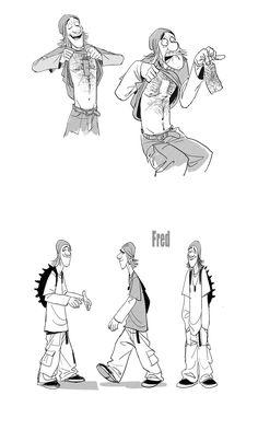 Expressões e poses do personagem Fred, de Big Hero 6!   THECAB - The Concept Art Blog   THECAB - The Concept Art Blog