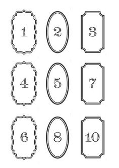 advent numbers1 Letter Writing, Yule, Silhouette Cameo, Ephemera, Advent Calendar, Printables, Lettering, Prints, Graphics