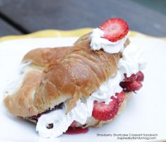 easy strawberry shortcake croissant - with a secret ingredient!