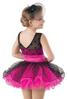 Weissman™ | Satin Dot Curly Hem Tutu Dress
