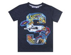Is it a bird? Is it a plane? No, it's Superman bursting out of this T-Shirt! Designed for comic book fans, the 'S' on this garment envelops images from the original comic book series so that the invincible hero can be seen in action.