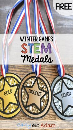 How to Organize a Winter Games STEM Competition in Your Classroom — Carly and Adam Sports Medals, Olympic Medals, Olympic Games, Olympic Medal Craft, Olympic Crafts, Competition Games, Winter Games, Thinking Day, Winter Olympics