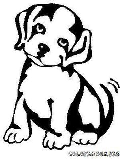 Line drawing of cute dog Dog Stencil, Stencil Art, Book Folding Patterns, Wood Burning Patterns, Desenho Tattoo, Art Corner, Fox Art, Black And White Drawing, Linocut Prints