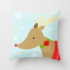 Holiday Pillow - Rudolph