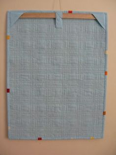 Hitch & Thread: Modern Mini Quilt Contest - Great way to hange a mini quilt