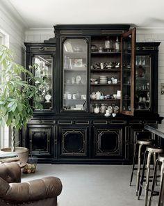 gorgeous antique black cabinet