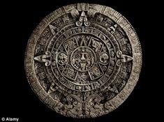The Aztec calendar stone is a large monolithic sculpture dating from 1479 that was excavated in the Zócalo, Mexico City's main square, on December 17, 1790. It was discovered whilst Mexico City Cathedral was being repaired. The stone is around 12 foot across and weighs about 24 tons. http://www.aztec-history.com/aztec-calendar-stone.html