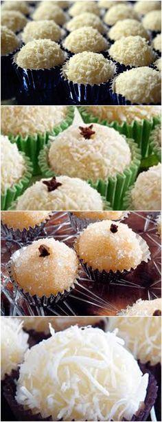 OLHA APRENDI A FAZER BEIJINHO DE COCO COM ESSA RECEITA!! VEJA AQUI>>> Cookies, Mousse, Muffin, Chocolate, Breakfast, Sprinkles, Baby Cakes, Yummy Recipes, Sweet Recipes