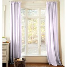 Solid Lilac Drape Panel 84-Inch Length Standard Lining 25.5-Inch Width 500x500 image