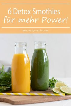 best detox smoothie recipes in the world! - WE GO WILD - The best detox smoothie recipes in the world! – WE GO WILD -The best detox smoothie recipes in the world! - WE GO WILD - The best detox smoothie re. Smoothies Detox, Apple Smoothies, Detox Juices, Smoothie Bowl, Healthy Smoothies, Detox Kur, Liver Detox, Cleanse Detox, Juice Cleanse