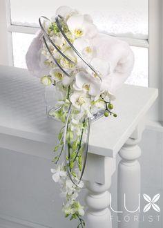 White Muff Bridal Bouquet (BW13-21), Wedding Flowers Phoenix, Phoenix Weddings & Wedding Planner Florist , Wedding Flowers.