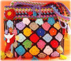 Bolsos de crochet juveniles y primaverales.   Moda Crochet