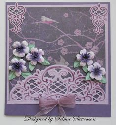 create a card garden dies | Selma's Stamping Corner and Floral Designs: Susan's Garden Quince