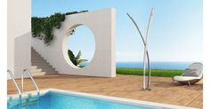 Douche extérieure, piscine, jardin en acier inoxydable - Inoxstyle Italian Style, Swimming Pools, Stainless Steel, Outdoor Decor, Design, Home Decor, Showers, Gardens, Open Showers